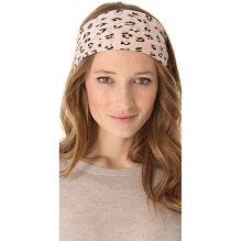 Club Monaco Pasterl Leopard Print Head Scarf